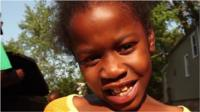 Girl who was wounded by bullet in Chicago