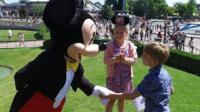 Fred meets Mickey Mouse