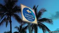 Picture of a Hurricane evacuation route sign