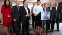 DUP leader and MPs