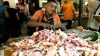 Venezuela meat market