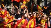 Barcelona pro-Spain rally
