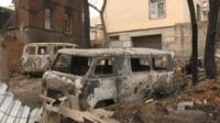 На месте пожара в Ростове-на-Дону