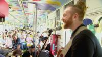 Newton Faulkner on the DMZ peace train