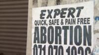 Illegal abortion sign