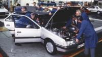 Peugeot 405 production at Ryton, 1987