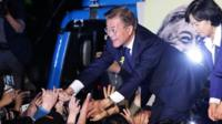 Moon Jae-In at victory rally