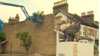 Collapsed house in Lewisham