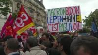 Демонстрация левых в Париже