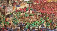 A group from Vilafranca wins the human tower competition