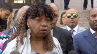 Gwen Carr speaks at press conference