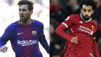 Lionel Messi and Mo Salah