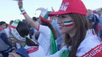 Иранские женщины идут на футбол