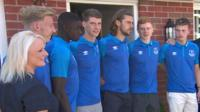 Everton players