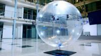 A helium-filled autonomous drone