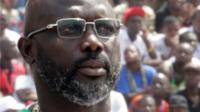 Liberia's President George Weah looks on as he attends his swearing-in ceremony at Samuel Kanyon Doe Sports Complex in Monrovia, Liberia, January 22, 2018.