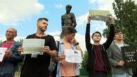 """Пикет """"За свободный интернет"""" в Барнауле"""