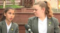 Children speak to Newsround