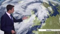 Presenter weather forecast