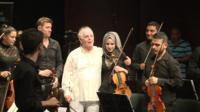Daniel Barenboim and his orchestra