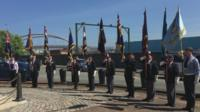 Service to commemorate the Battle of Jutland in 1916, held in Holyhead, Anglesey