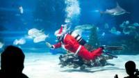 Scuba diving Santa