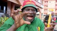 Cameroon football fan