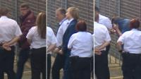 Anthony Baines, James Davies and Mark Ennis leaving Mold Crown Court
