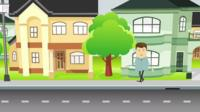 Graphic of a man standing by a road
