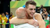 Max Whitlock celebrates bronze medal win