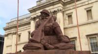Mud soldier statue