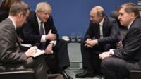 Встреча Бориса Джонсона и Владимира Путина