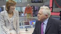 Fiona Bruce and David Dimbleby