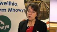 Powys Council leader Rosemarie Harris