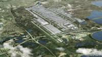 File photo from Heathrow Airport showing aerial view of its planned third runway