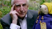 Michael Bond with Paddington