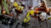 robots in an Indian factory