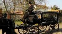 Keith Flint's funeral cortege