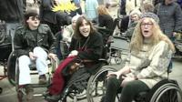 Disability protest in the 90s