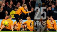 Jimmy Bullard's 'team talk' celebration