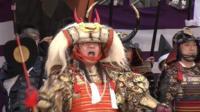 Man in Samurai costume