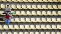 Empty seats in stadium