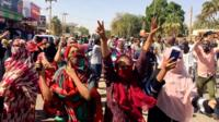 Protesters on the streets in Sudan