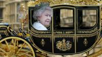 Queen in carriage graphic