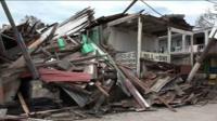 Разрушенный дом на Гаити