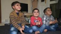 Syrian children who arrived in Leeds with their parents