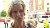 Woman giving view on referendum