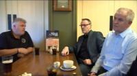 Brian Meechan meets union officials