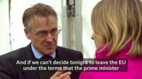 Charles Walker speaking to Laura Kuenssberg