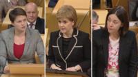 Ruth Davidson, Nicola Sturgeon and Kezia Dugdale